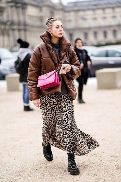 jupe longue pochette imprimé leopard tendance 2020