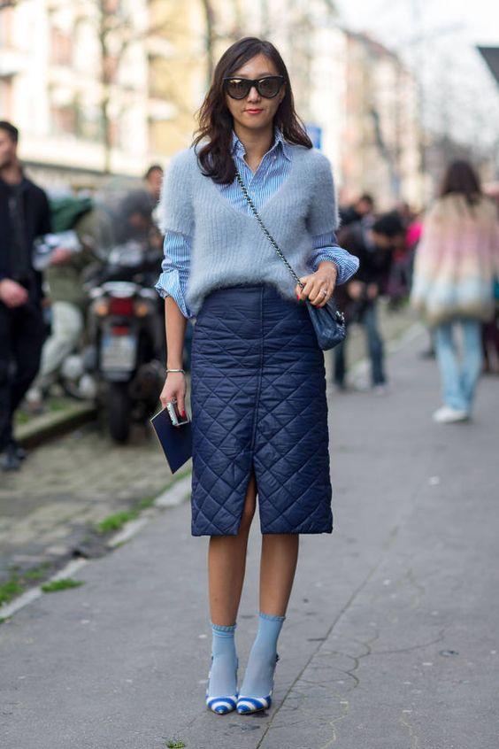 jupe matelassé style chanel tendances de mode 2