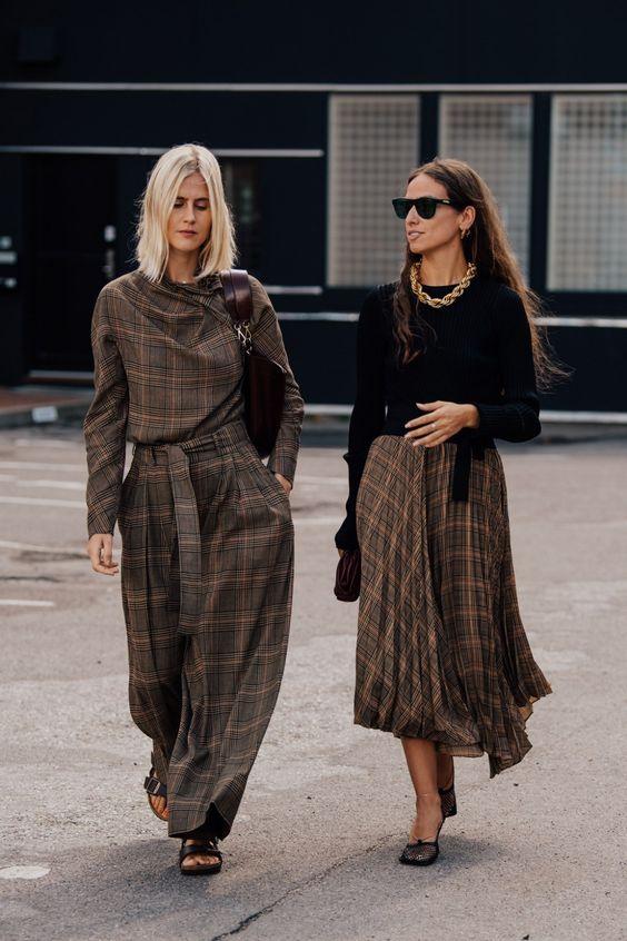 jupe a carreaux tendance de mode
