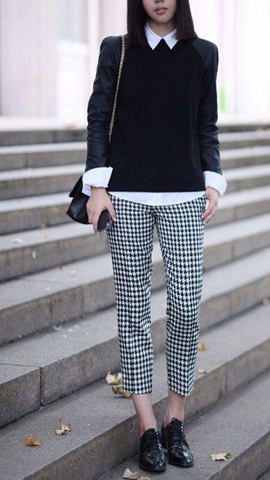 pantalon pied de poule comment porter
