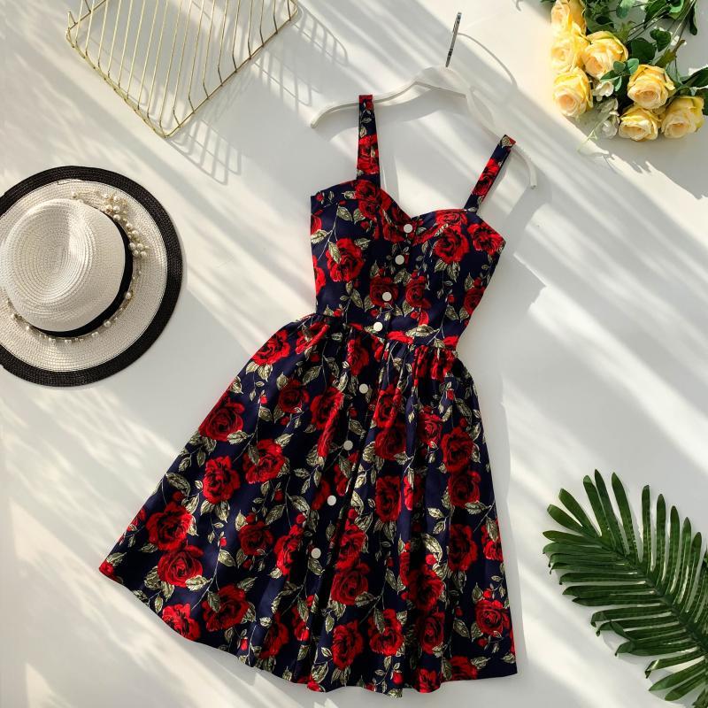 robe guinguette fleurie