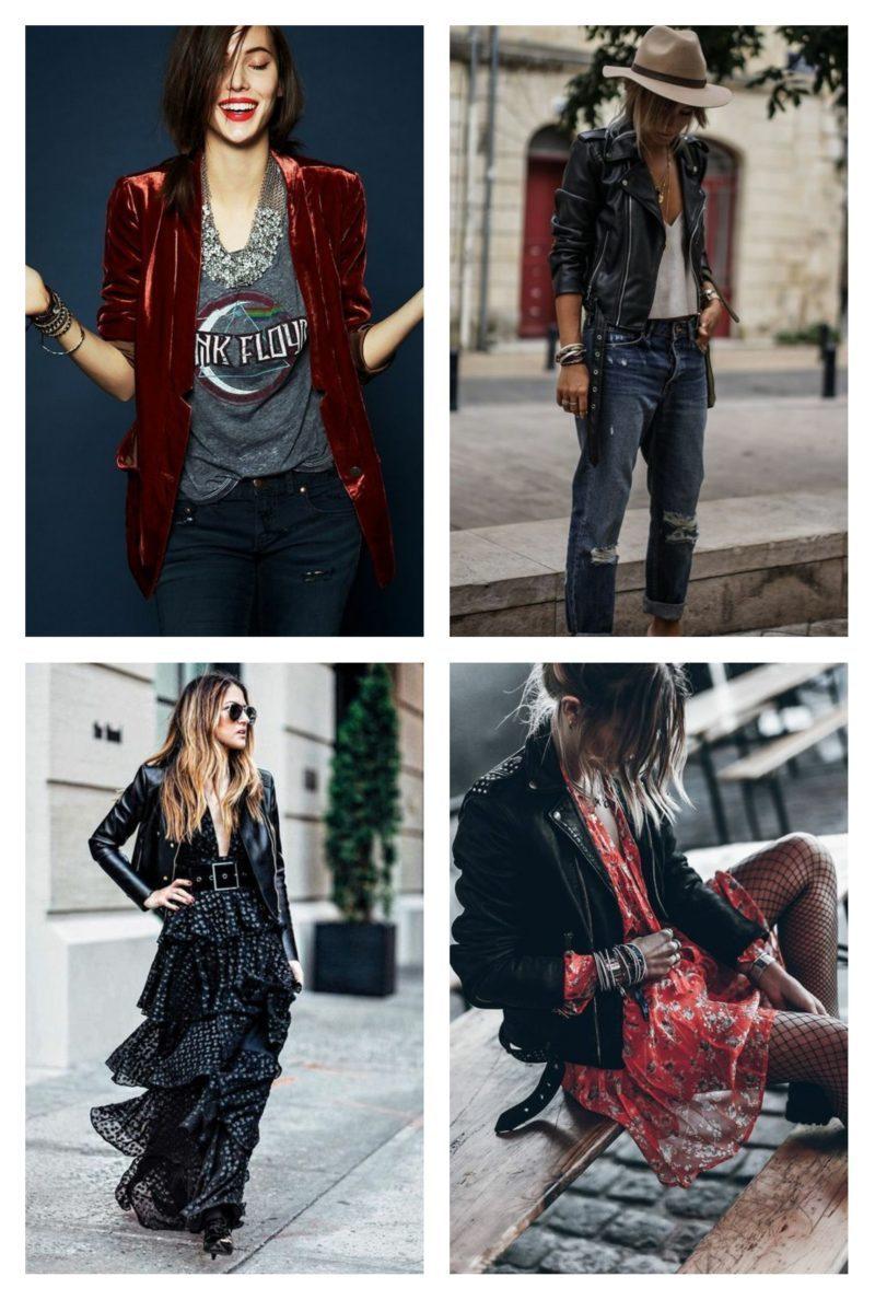 style vestimentaire femme rock