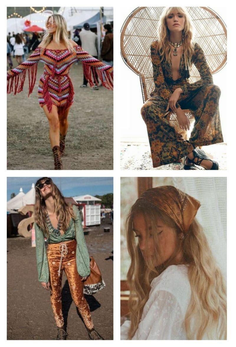 style vestimentaire femme années 70 hippie