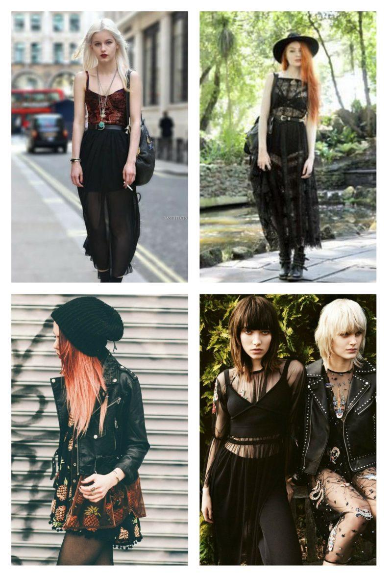 style vestimentaire femme romantqiue grunge