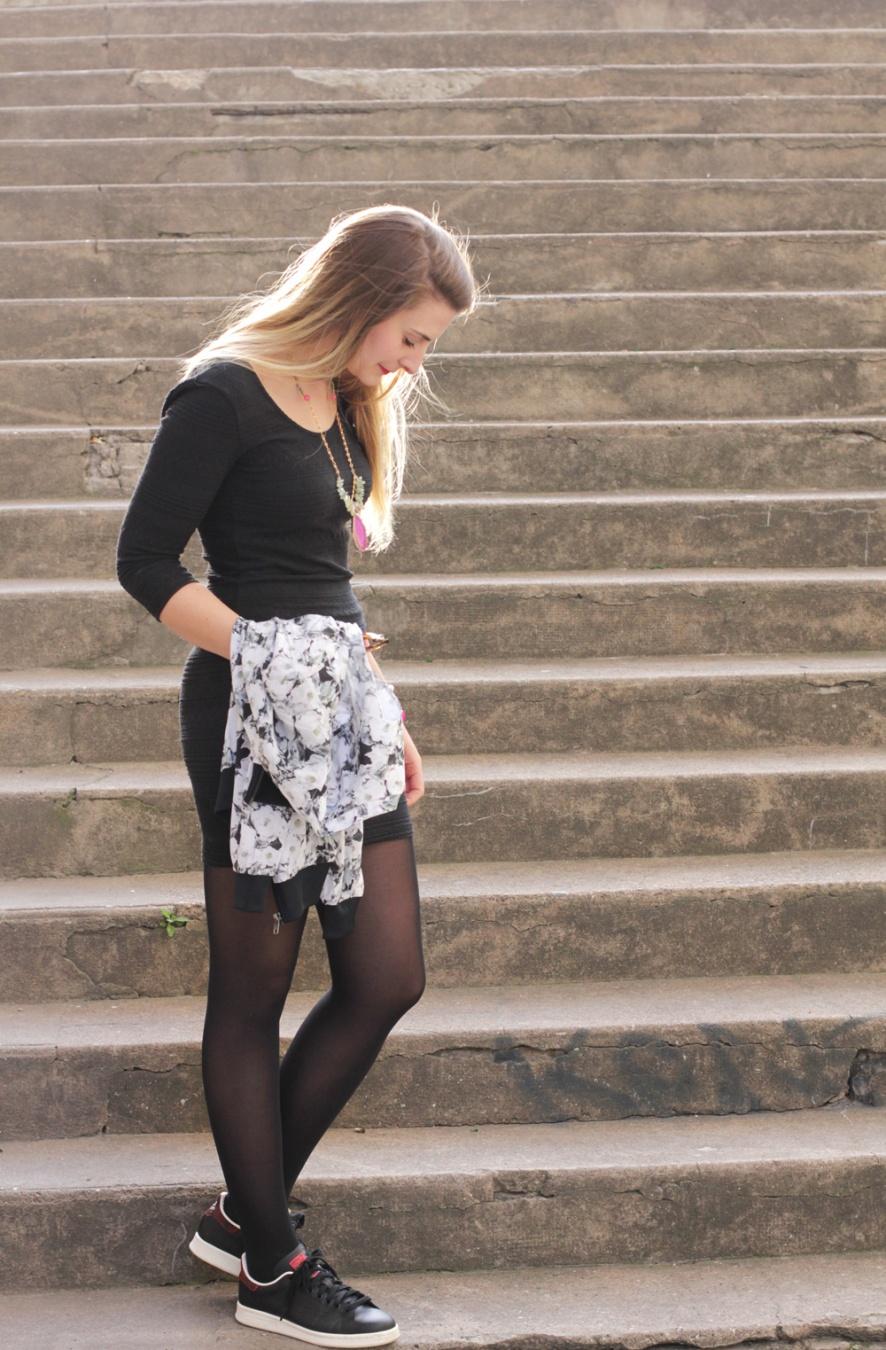 robe noire basket