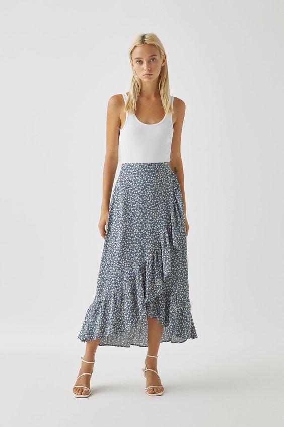 jupe longue asymétrique