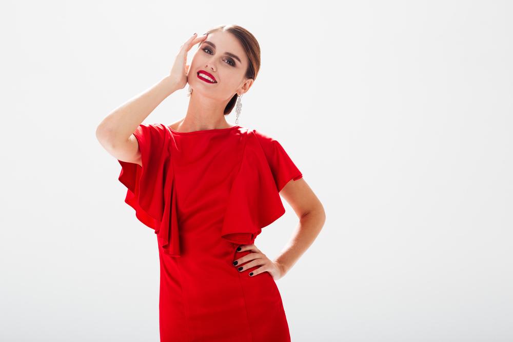 robe rouge femme
