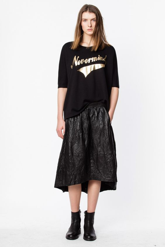 jupe longue noire look