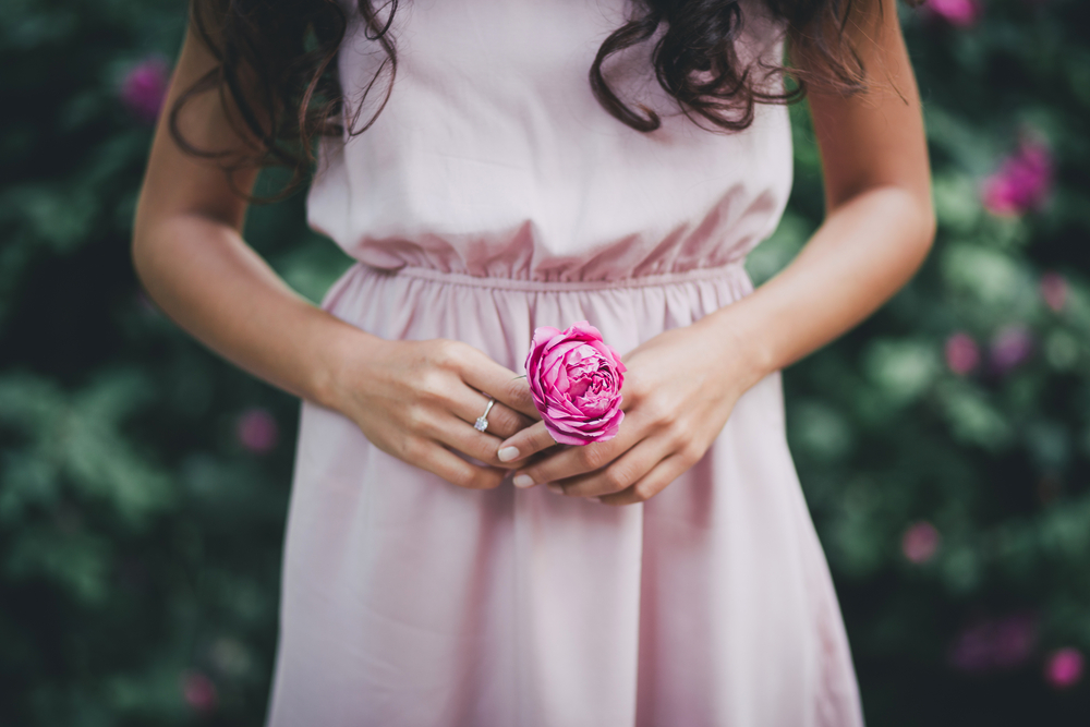 robe chic mariage rose pastel