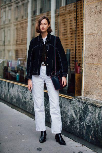la veste en jean noire