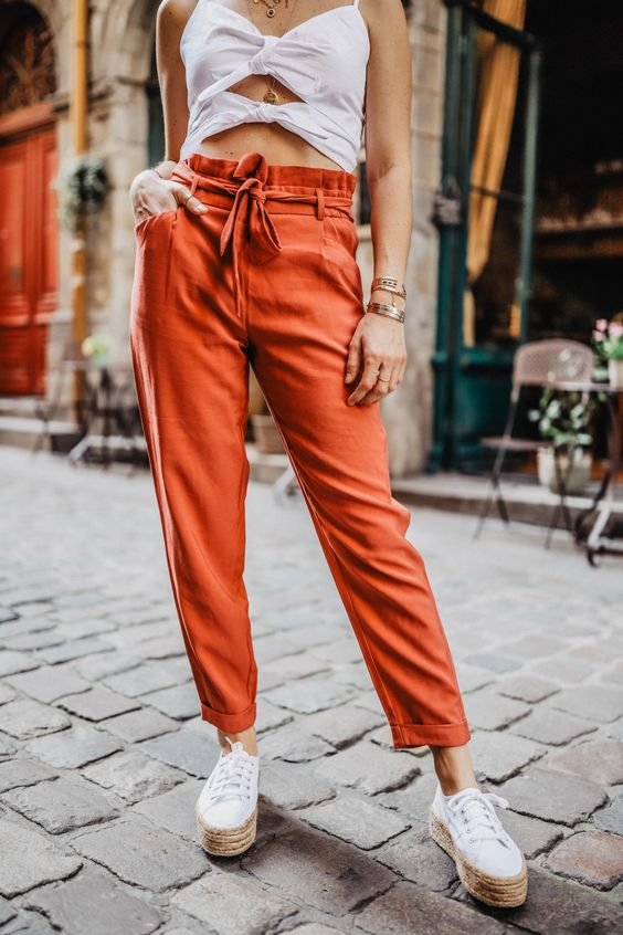 pantalon carotte en été