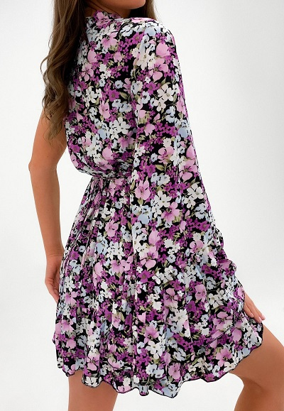 robe violette fleurie