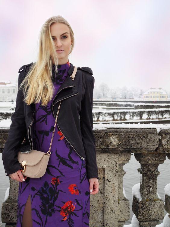 robe violette rock