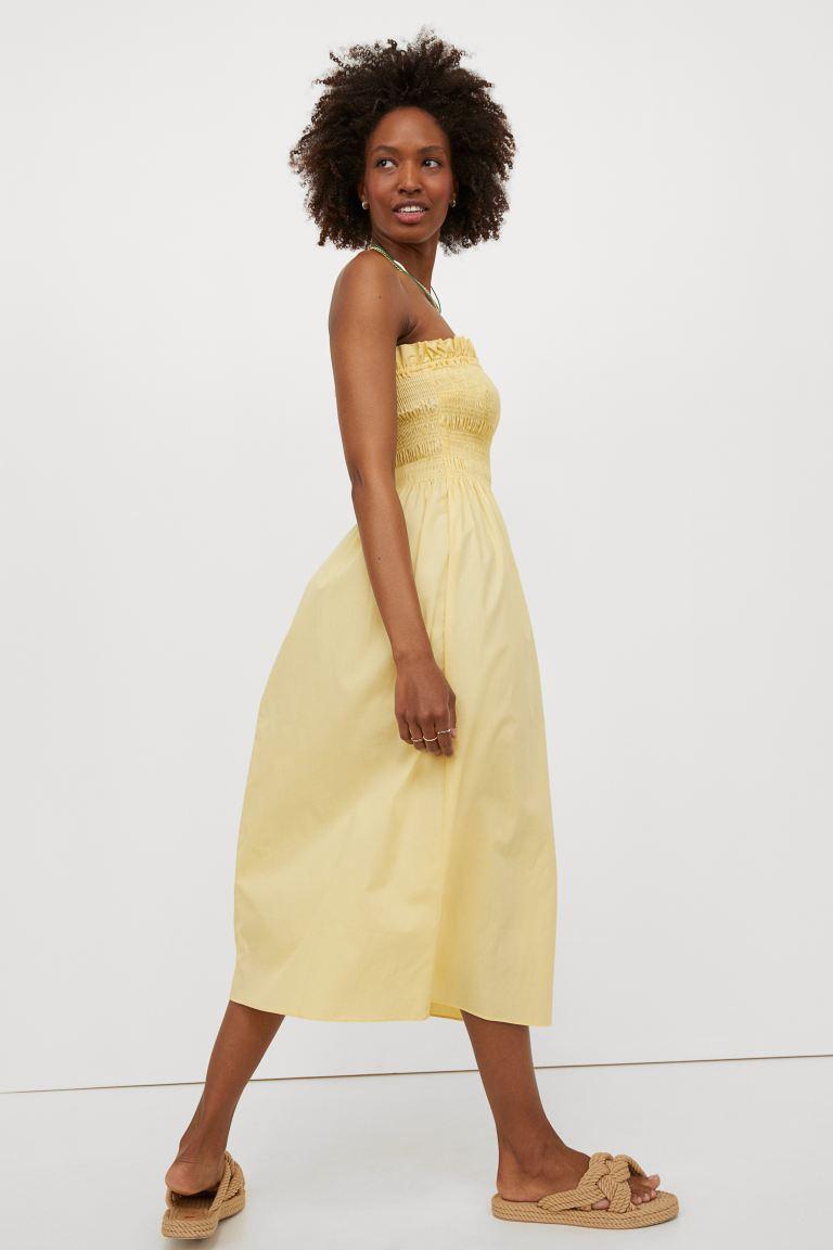 robe à smocks femme bustier