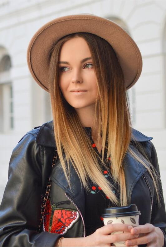 chapeau forme visage