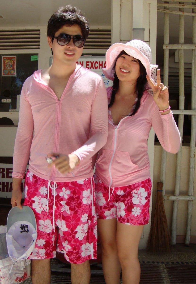 mode k pop couple wear